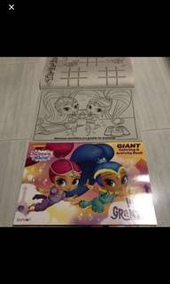 While stock last!! Shimmer and shine Giant Coloring book brand new