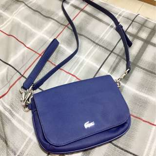Authentic Lacoste Sling Bag ( Navy Blue)