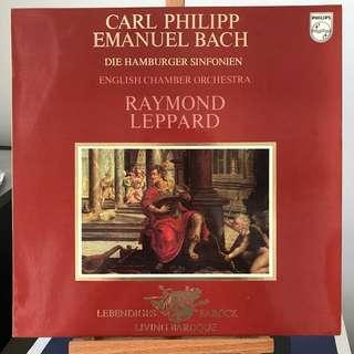 CPE Bach Die Hamburger Sinfonien Leppard PHILIPS 9502013