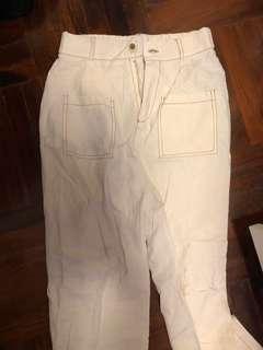 白色闊腳褲