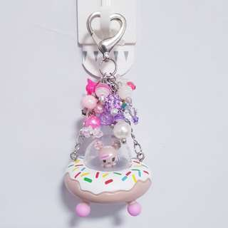 Donutella and Sweet Ride Beads Keychain