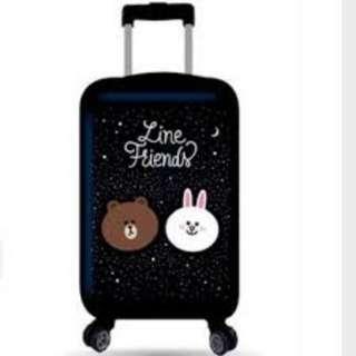 全新熊大兔兔亮面星空版20吋硬殼TSA鎖行李箱登機箱