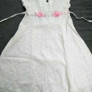 Girl Embroidery Cotton Aline Dress