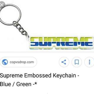 Supreme Key Chain (綠藍雙色) 日本🇯🇵原宿店購入