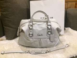 Authentic Coach Ashley leather two way bag with box