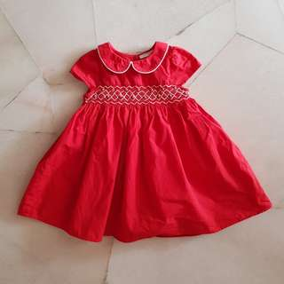 NEXT Red Embroidered Frock