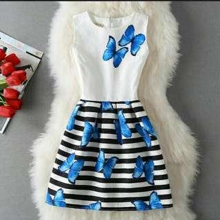 Butterfly ladies dress