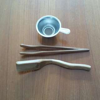 Tea Equipment(茶勺, 茶夾, 茶漏)