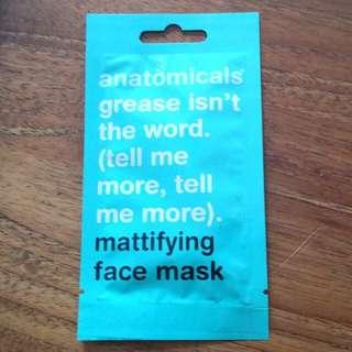 Anatomicals face mask- Mattifying face mask