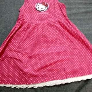 Hello Kitty Dress ( Pink with White Polka Dot)