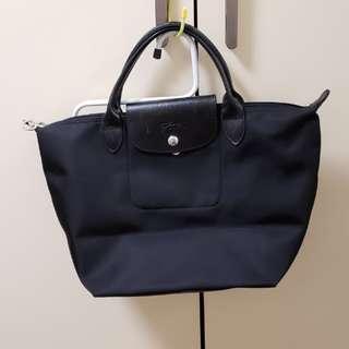 Longchamp LE PLIAGE NÉO 系列   S Size 黑色手挽袋