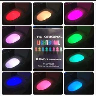8 colours Led Light toilet bowl