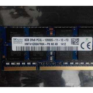 SK HYNIX 8GB SODIMM DDR3 RAM 1600MHZ
