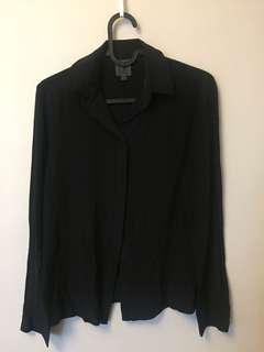 CK Calvin Klein crepe silk blouse sz 8