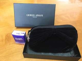 全新Giorgio Armani 絨面化妝袋