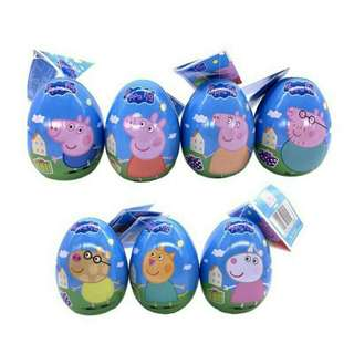 *FREE DELIVERY to WM only / Pre order 15-18 days* Kids peppa pig & friends toy surprise egg chop each 10g random pick as shown design/color. Free delivery is applied for this item.