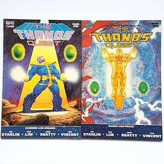 Marvel Comics Thanos Quest 1and 2 Completed 2 Issue Mini-Series Near Mint Condition First Print Infinity War Movie