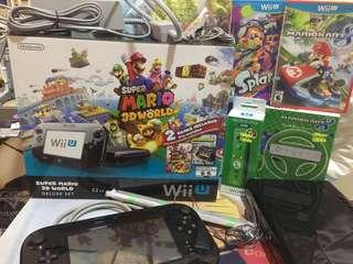 Limited Edition Nintendo Super Mario 3D World Wii U Deluxe Set 32GB