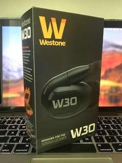 Westone w30 入耳式耳機 送藍芽接收/單晶銀