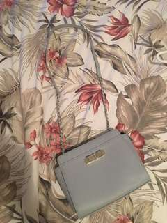 Charles and Keith baby blue bag