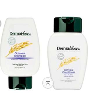 😍CRAZY SALE😍BEST FOR SENSITIVE SCALP😍DERMAVEEN❤FULL SIZES ❤SHAMPOO & CONDITIONER @ONLY $19.95!!! Dermaveen Oatmeal Shampoo and Conditioner Value Pack (250ml *2)