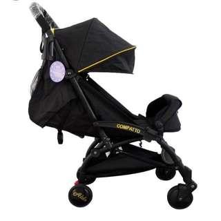 Aldo Compatto Stroller Black / Gold