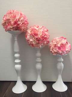Wedding decor vase with flower ball