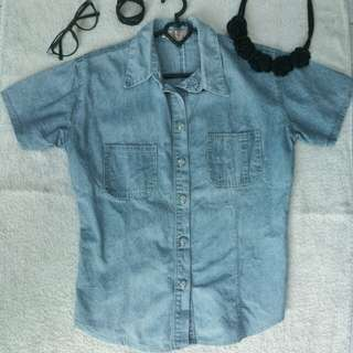 Kemeja Jeans Light Blue