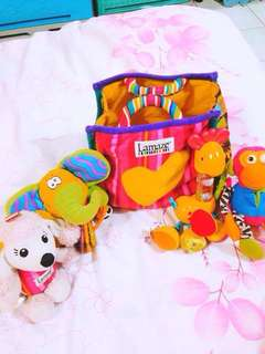 Pre loved Lamaze toys set with bag