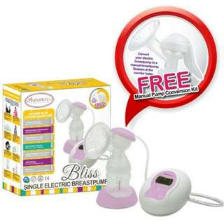 Autumnz-BLISS convertible Single Electric/Manual Breastpump (Free Power Bank Cable worth RM19.00)