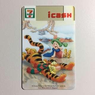 【個人收藏/全新】icash 小熊維尼冬季限定卡 CARD-052 | Winnie the Pooh | Disney | 7-11 統一超商 | 收藏 絕版