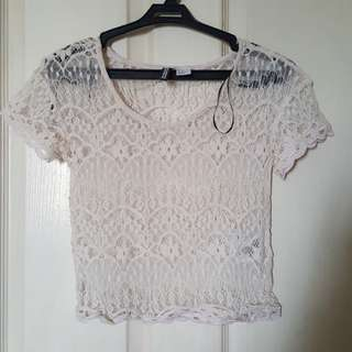 H&M Divided Lace Top