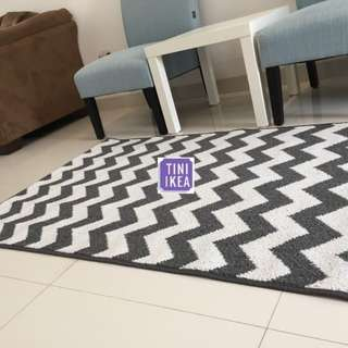 IKEA karpet Monochrome zigzag