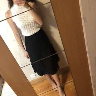 <95% new> Black lace dress