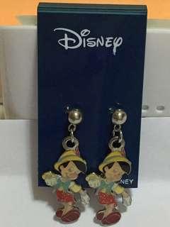 Disney Pinocchio Pierced Earring 小木偶穿耳環(Brand new 全新)