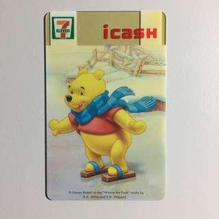 【個人收藏/全新】icash 小熊維尼冬季限定卡 CARD-051 | Winnie the Pooh | Disney | 7-11 統一超商 | 收藏 絕版