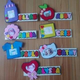 Magnet frame with name