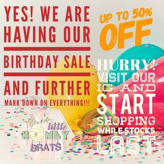 Birthday Sale! Up to 50% OFF!!!