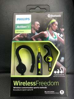 Brand new in box - Philips Wireless sweat proof sports earphones