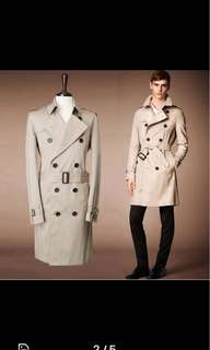 Brand new Men ivory trench coat