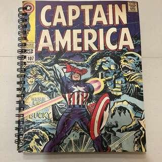 Typo Captain America Notebook