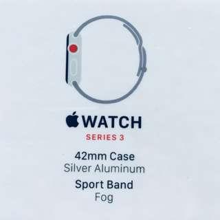 Apple Watch Series 3 GPS+Cellular 42mm Aluminium Silver