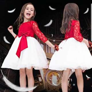 Red/White Dress for 11-12yo