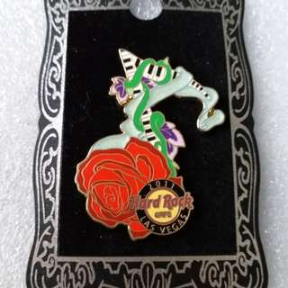 Hard Rock Cafe Pins ~ LAS VEGAS HOT 2011 PIANO ROSE MUSICAL NOTE PIN!
