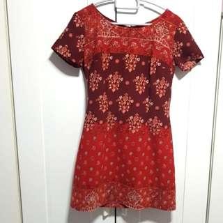 Hollister Floral Ethnic Print Shift Dress