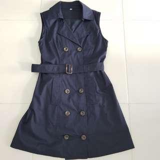 Dark Blue Trench coat dress