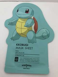 Pokemon Tony Moly Squirtle mask Kkobugi Mask sheet lotus