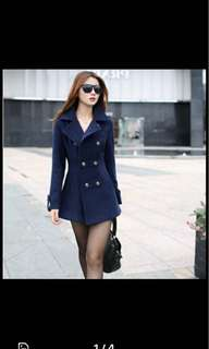 Brand new navy blue ladies coat