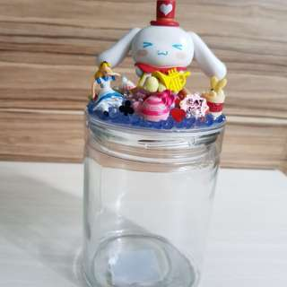 Cinnamoroll x Alice in wonderland decoden glass bottle