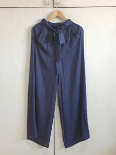 Zalora Tie High Waist Pants